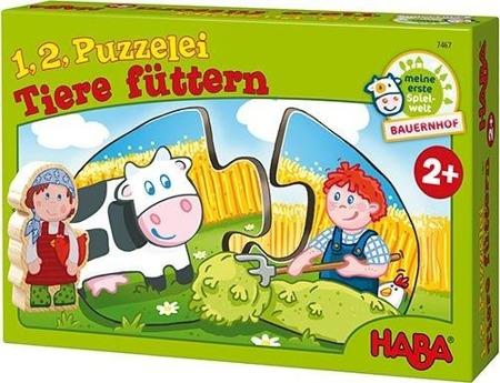 Puzzle edukacyjne Co jedzą zwierzęta, 2 lata +, HABA