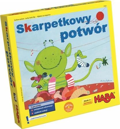 Gra zręcznościowa Skarpetkowy potwór, HABA (wersja polska)