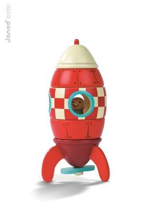 Drewniana rakieta magnetyczna - prom kosmiczny, Janod