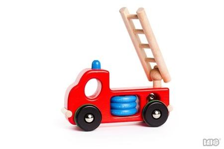 Drewniana straż pożarna - drewniany samochód, auto dla strażaka, BAJO