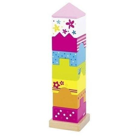 Drewniana układanka wieża - zestaw klocków do budowania wieży SUSIBELLE, Goki