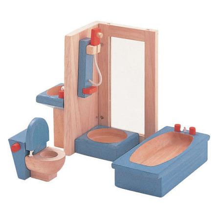 Drewniane mebelki dla lalek Łazienka Neo - mebelki do domku dla lalek, Plan Toys