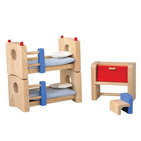 Drewniane mebelki dla lalek Pokój dziecinny Neo - mebelki do domku dla lalek, Plan Toys