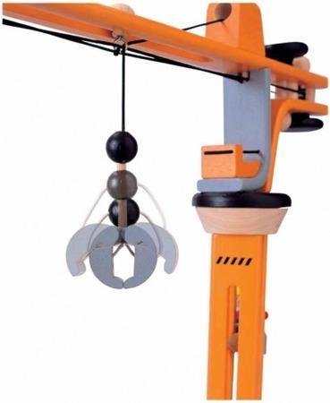 Drewniany dźwig 360 stopni + akcesoria, zestaw Plan Toys
