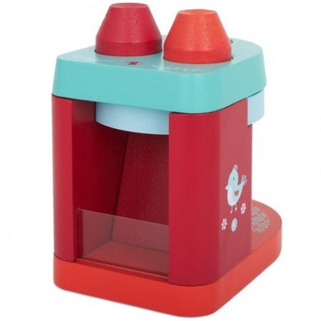 Drewniany ekspres do kawy na kapsułki - ekspres do zabawy dla dzieci, DJECO