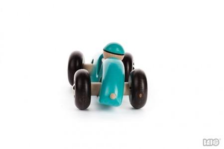 Drewniany samochód - samochód wyścigowy, skrętne autko dla dzieci, BAJO