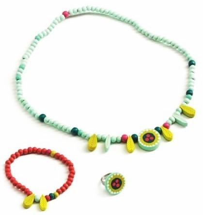 Drewniany stojak TANCERKA z biżuterią dla dzieci, DJECO DJ06579