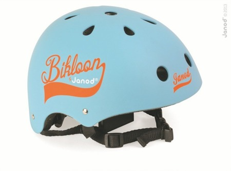 Dziecięcy kask do rowerku biegowego niebieski - kask z regulacją obwodu i cyrkulacją powietrza, Janod