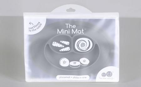 EZPZ Silikonowy talerzyk z podkładką mały 2w1 Mini Mat szary