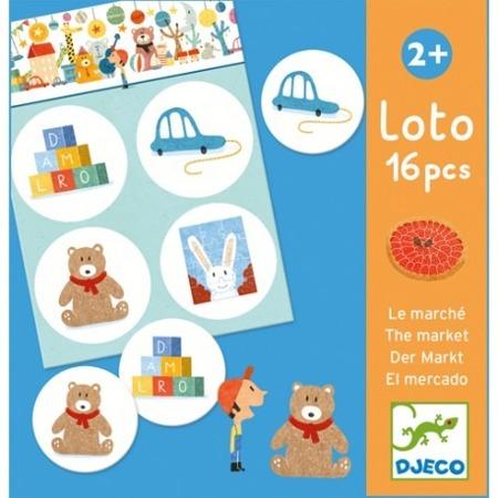 Gra edukacyjna loto MARKET - w sklepie, loteryjka obrazkowa, DJECO DJ08125