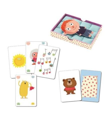 Gra karciana dla maluchów 3+ na dobranoc - przyjemne zasypianie, DJECO DJ05176