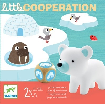 Gra kooperacyjna iglo - gra planszowa 2+ miś polarny i przyjaciele, DJECO DJ08555