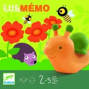 Gra planszowa pamięciowa - zwierzątka w ogrodzie, LITTLE Memo 2,5 lata +, DJECO