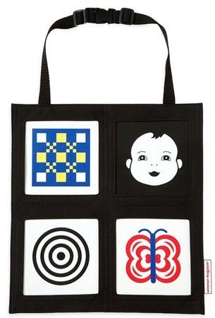 Kontrastowa mata edukacyjna do samochodu - Galeria obrazków w torbie do auta, Manhattan Toy