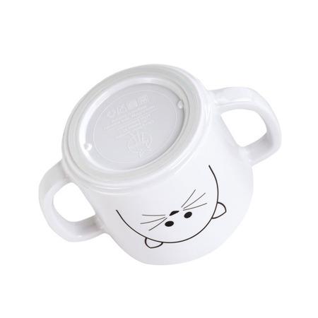 Kubek dla dzieci z dziubkiem z melaminy Little Chums Kot, Lassig