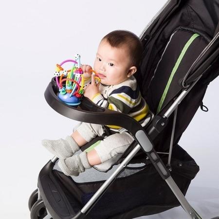 Labirynt gryzak z piłkami do wózka, na stół - stojak, 0m+, Manhattan Toy