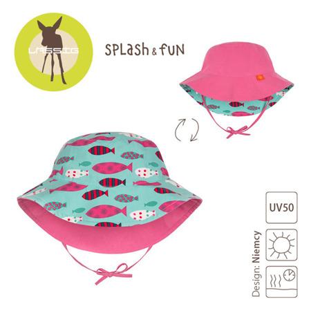 Lassig, Kapelusz dwustronny UV 50+ Light pink