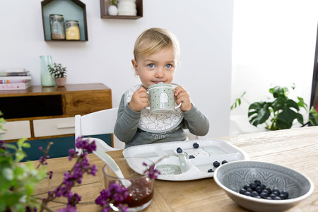 Lassig Śliniak bawełniany wodoodporny 0m+ Little Spookies Olive