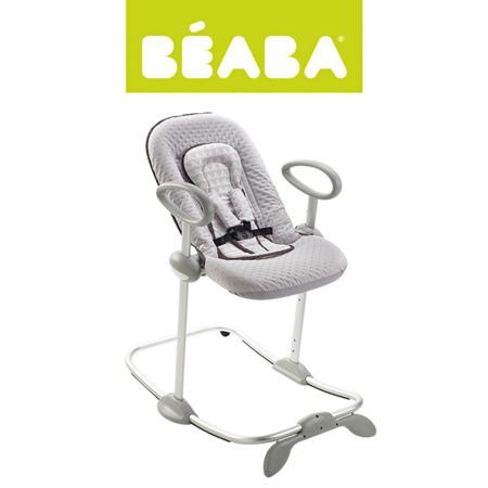 """Leżaczek wielozadaniowy, regulowana wysokość, półleżący i siedzący, Beaba """"Bouncer Up&Down II"""" grey/blue, BEABA"""