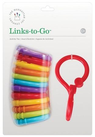Linki, gryzaki dla niemowlaka - ćwiczenie chwytu i sensoryka 12szt., Manhattan Toy