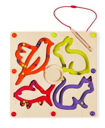 Magnetyczny labirynt z kulkami - drewniany labirynt zwierzątka, Janod