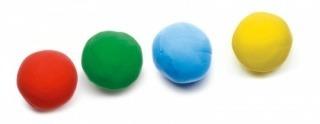 Masa plastyczna - zestaw 4x kubeczki w różnych kolorach (jak ciastolina), DJECO DJ09756