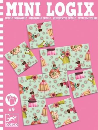 Mini puzzle KSIĘŻNICZKI - seria podróżnicza / kieszonkowa MINI LOGIX DJECO, DJ05363