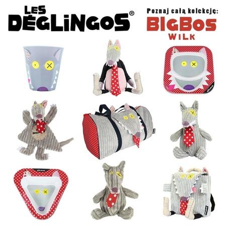 Miseczka do jedzenia dla dzieci z melaminy Wilk Bigbos, Les Deglingos
