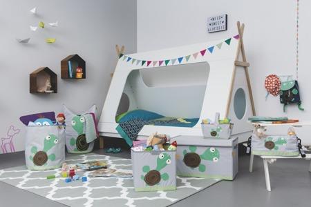 Organizer na akcesoria z rączką - organizer do pokoju dziecka, Wildlife Żółw Lassig