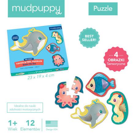 Pierwsze puzzle sensoryczne Pod wodą 1+ (12m+), Mudpuppy