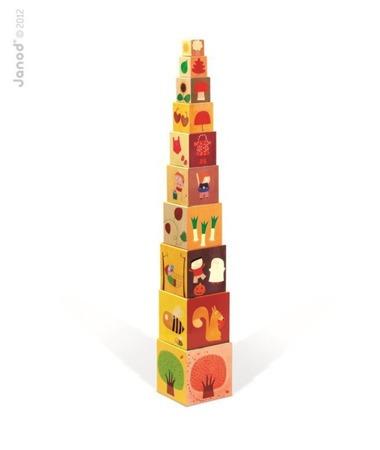 Piramida wieża Pory roku - 10 kostek, Janod - nauka zjawisk i przyrody
