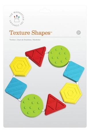 Plastikowy gryzak dla niemowląt - kolorowe kształty, Manhattan Toy