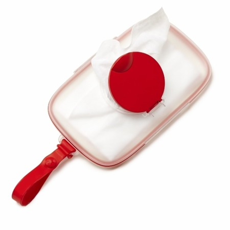 Pojemnik na mokre chusteczki dla dzieci - pudełko do przechowywania mokrych chusteczek Swipes Red, SKIP HOP