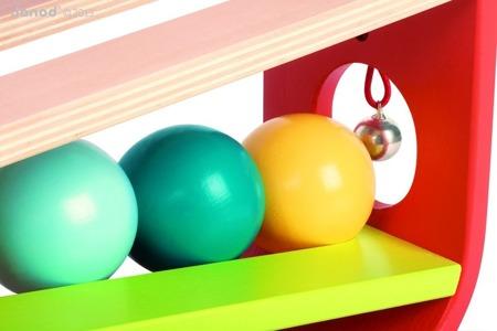 Przebijanka drewniana Frappa'Ball, Janod - wbijanka kolorowe kule