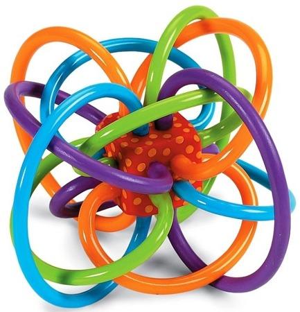 Przestrzenny gryzaczek dla dzieci 0m+ - gryzak linki, Manhattan Toy