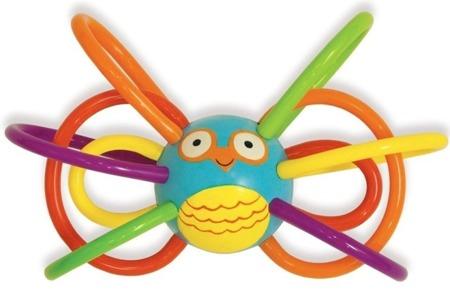 Przestrzenny gryzak ptaszek linki, 0m+, Manhattan Toy
