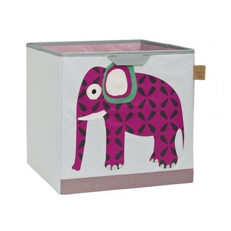 Pudełko na zabawki - pudło do przechowywania zabawek w pokoju dziecka Wildlife Słoń, Lassig