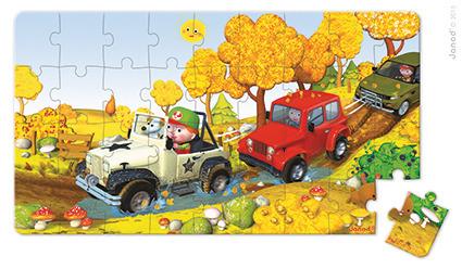 Puzzle 2w1 Terenówka Alka, Janod