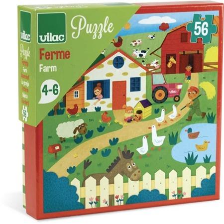 Puzzle FARMA, zwierzęta 56el. 4 lata +, VILAC