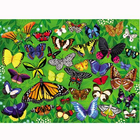 Puzzle Motyle 300 puzzli - łąka 50 x 68 cm, 8 lat + Crocodile Creek