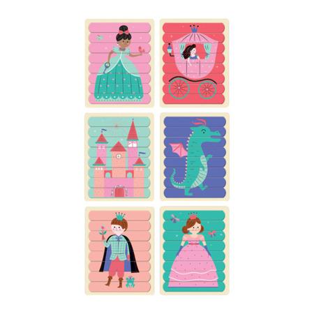 Puzzle Patyczki Księżniczki 24 elementy 3+, Mudpuppy