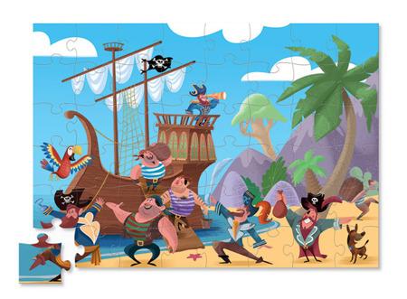 Puzzle Piraci - puzzle w solidnej skrzyni pirackiej 48 el. Crocodile Creek