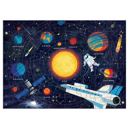 Puzzle Układ Słoneczny z elementami w kształcie planet, zestaw z planetami, 5+, Mudpuppy