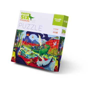 Puzzle dinozaury - świat dinozaurów 300 puzzli,50 x 68 cm, 5 lat +,  Crocodile Creek