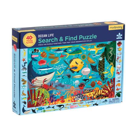 Puzzle szukaj i znajdź - puzzle obserwacyjne Życie oceanu 64 elementy 4 lata +, Mudpuppy