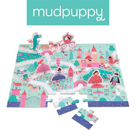 Puzzle zamek i księżniczki - zestaw z 8 figurkami Księżniczka 3+, Mudpuppy