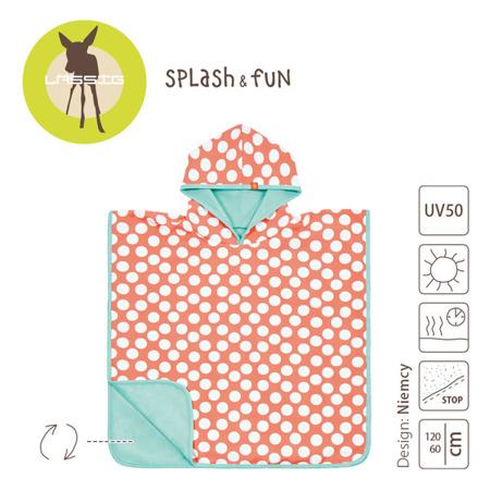 Ręcznik Poncho dla dzieci do kąpieli - ręcznik kąpielowy z kapturem Jolly Dots, Lassig