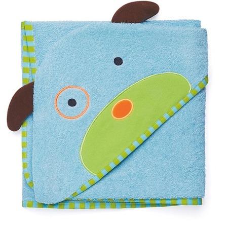 Ręcznik do kąpieli dla niemowlaka z kapturkiem - okrycie kąpielowe Zoo Pies