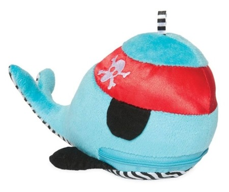 Sensoryczny wieloryb z chowanymi gryzakami dla niemowląt, Manhattan Toy