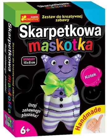 Skarpetkowa maskotka, kotek - DIY dla dzieci, 6 lat +, RANOK-CREATIVE